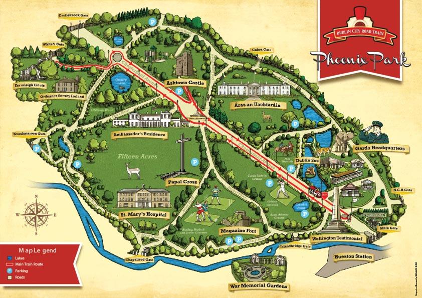 Phoenix Park Map, Dublin
