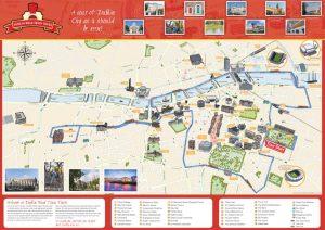Dublin City Road Train Tours Map