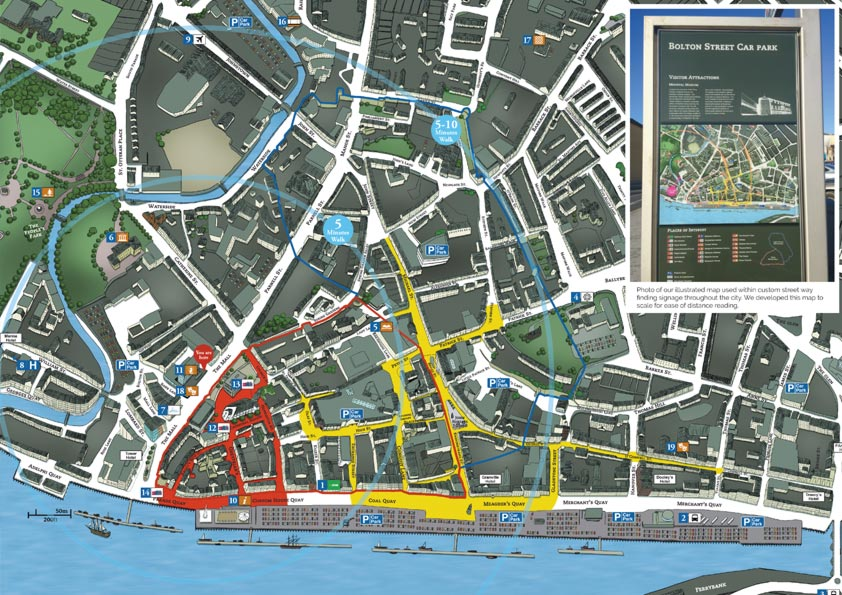 Waterford City Way Finding Map