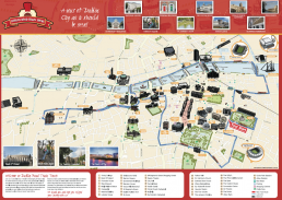 Dublin City Road Train Tours Map