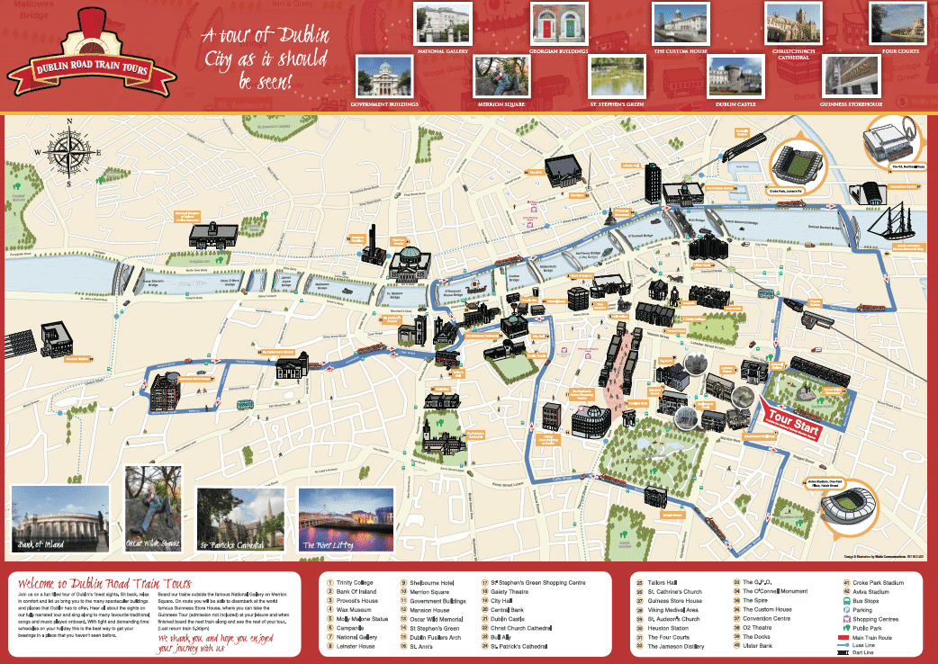 City Map Of Dublin Ireland.Illustrated Maps Graphic Design Agency Marla Communications