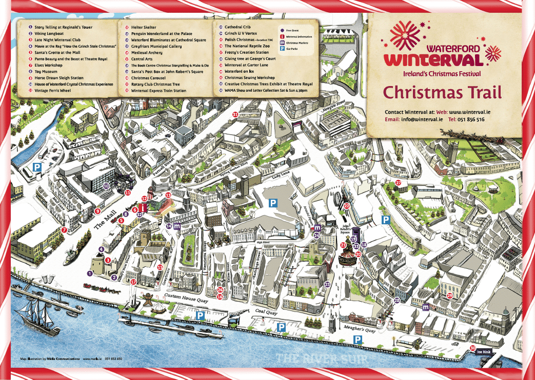 Map Of Waterford Ireland.Illustrated Maps Graphic Design Agency Marla Communications