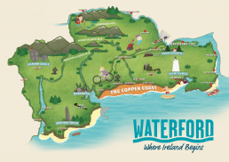 Illustrated Waterford County Map by Márla Communications