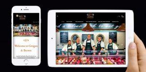 Mobile Design Projects - Grogan & Brown Artisan Butchers