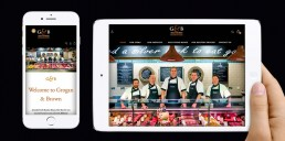 Mobile Design Projects - Grogan & Brown Artisan Butchers