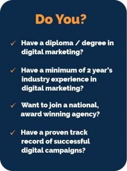 Digital Marketing Manager - Job Requirements