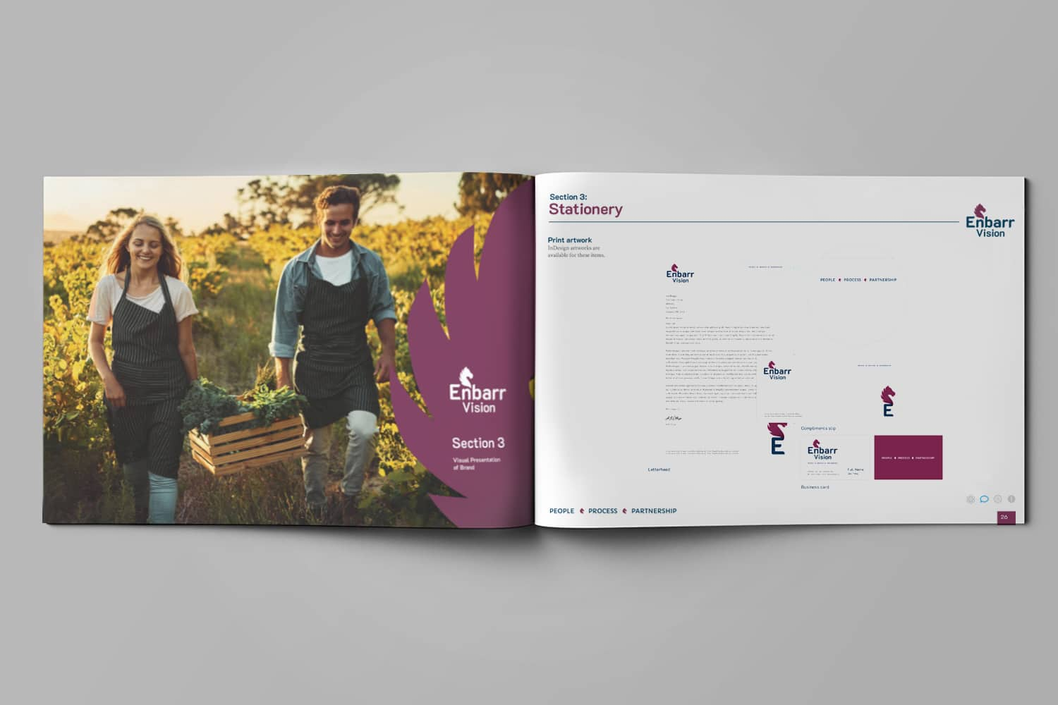 Brand Design Agency - Enbarr Vision Corporate Manual