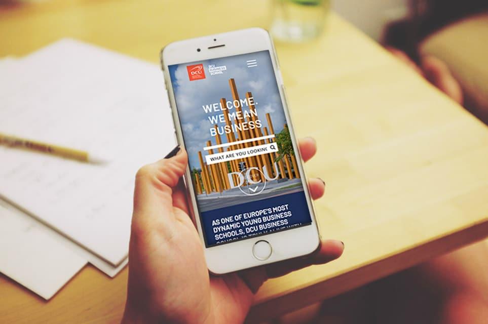 DCU Business School Website Design - Mobile Website Version