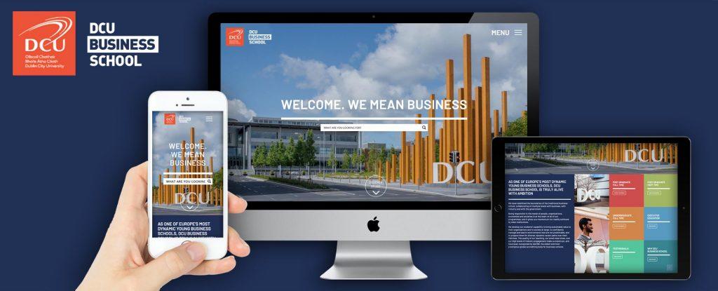 DCU Business School Website Design