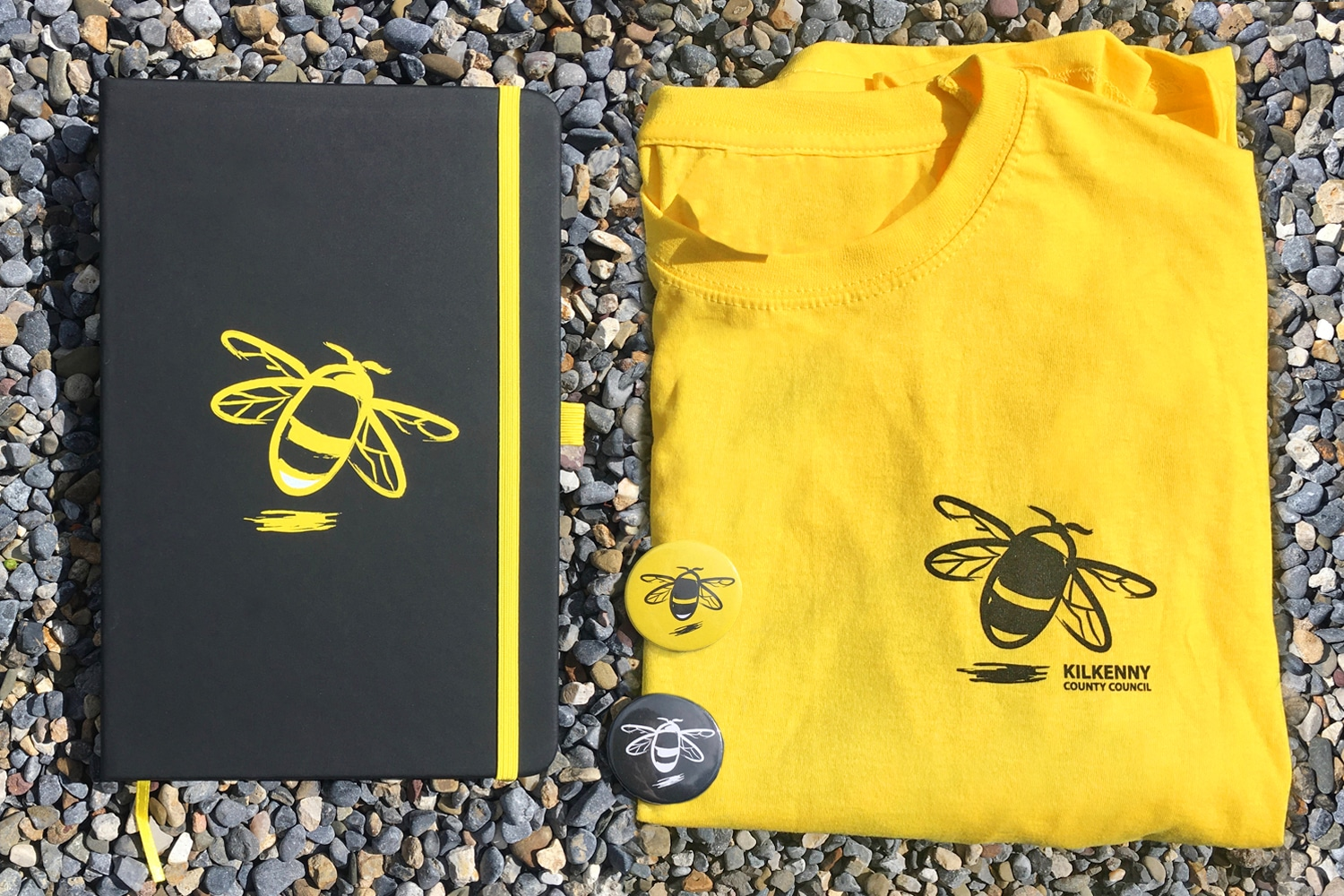 Kilkenny Pollinator Badges, Diaries and T-Shirts