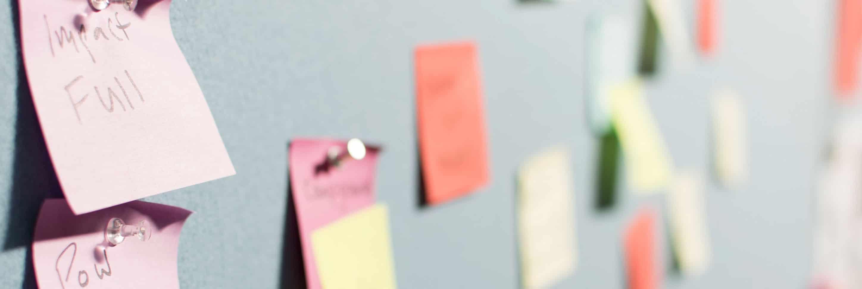 Social Media Marketing Strategy - Post It Notes