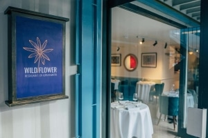 Wildflower Restaurant by Adrian Martin entrance sign