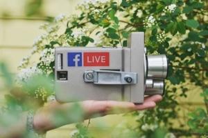 Camera with Facebook Live Logo
