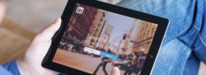 LinkedIn App on Tablet Device