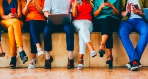 People on their smart phones and computers - social media tips